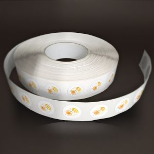 Tag 25 mm - PVC blanc