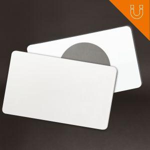 Tag semi rigide 81 x 49 mm - PP blanc 0.8 mm + ferrite