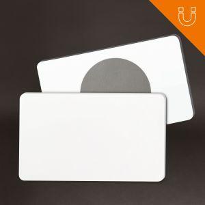 Tag semi rigide 81 x 49 mm - PP blanc 1.2 mm + ferrite