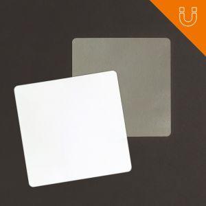 Tag semi rigide 43 x 43 mm - PP blanc 0.8 mm + ferrite
